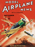 Model Airplane News - The Vought Pursuit V-143 - December 1936 - Magazine Cover Poster