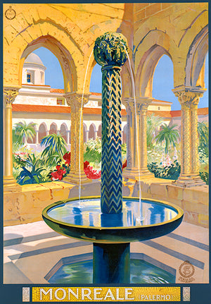 Monreale, Palermo - Sicily, Italy - 1940's - Travel Poster Magnet