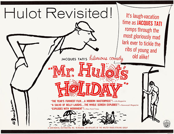 Mr. Hulot's Holiday - 1953 - Movie Poster