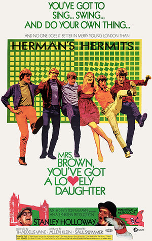 Mrs Brown, You've Got A Lovely Daughter - 1968 - Movie Poster Magnet