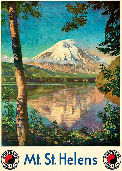 Mt. St. Helens - Northern Pacific Railway - 1924 - Travel Poster