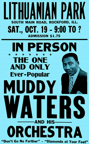 Muddy Waters - 1957 - Concert Poster