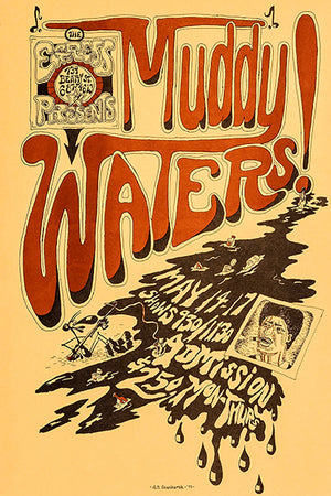 Muddy Waters - 1973 - The Egress - Concert Poster