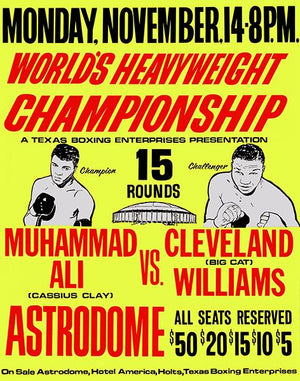 Muhammad Ali vs Cleveland Williams - 1966 - Fight Promotion Mug