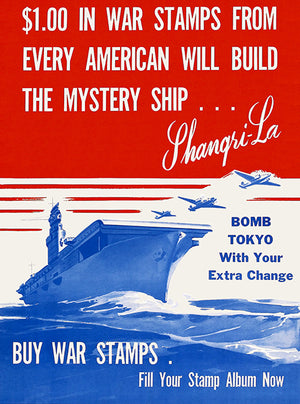Mystery Ship - Shangri-La - 1943 - World War II - Propaganda Mug