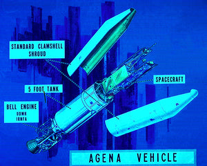 NASA - Agena Vehicle - 1968 - Promotional Advertising Poster