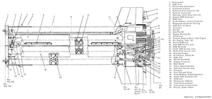 NASA - Saturn I Stage Inboard - 1963 - Technical Drawing Magnet