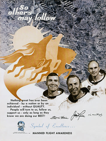 NASA - So Others May Follow - Manned Flight Awareness - 1969 - Promotional Poster
