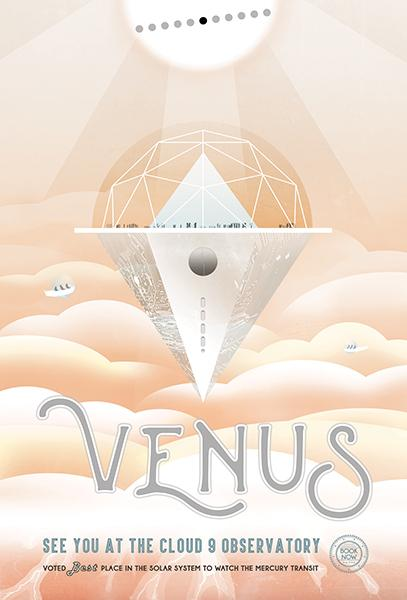 NASA - Venus - See You At The Cloud 9 Observatory - Fantasy Travel Poster Mug