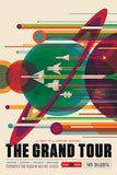 NASA - Voyager - The Grand Tour - Fantasy Travel Poster