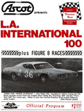Nascar - L. A. International 100 - Ascot Park - 1975 - Program Cover Poster