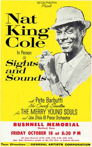 Nat King Cole - Sights & Sounds - 1963 - Hartford CT - Concert Magnet