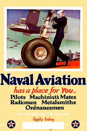 Naval Aviation - 1942 - World War II - Propaganda Poster