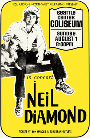 Neil Diamond - 1971 - Seattle WA - Concert Poster