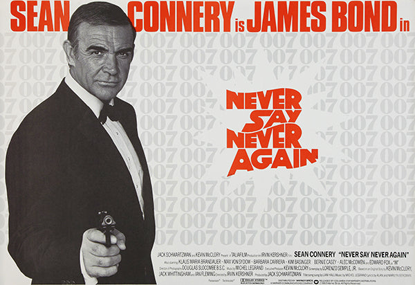 Never Say Never Again - James Bond - 1983 - Movie Poster