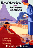 New Mexico & Arizona Rockies - Land History Mystery - 1925 - Travel Poster