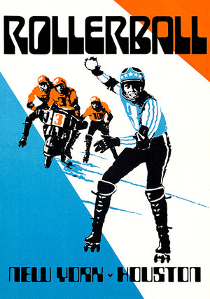 New York vs Houston - Rollerball - 1975 - Movie Match Event Poster Magnet