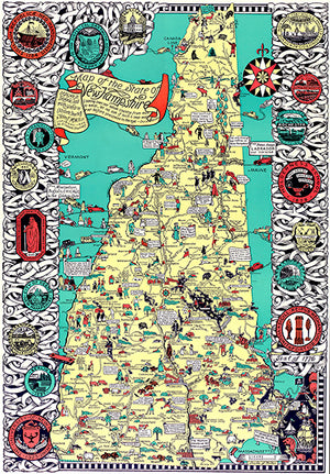New Hampshire State - 1926 - Pictorial Map Poster