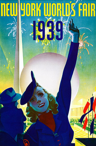 New York World's Fair - 1939 - Promotional Advertising Poster