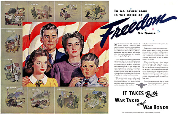 No Other Land The Price Of Freedom Small - 1943 - World War II - Propaganda Poster