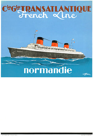 Normandie - French Line - Ocean Liners - 1940's - Travel Poster Mug
