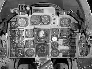 North American A-5A Vigilante Cockpit Control Panel - 1963 - Photo Magnet