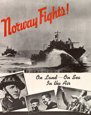 Norway Fights! - On Land - On Sea - In the Air - 1940s - World War II - Propaganda Magnet