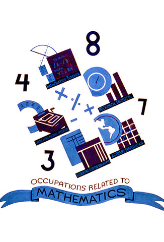 Occupations Related To Mathematics - 1938 - WPA Poster