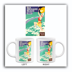 Old Orchard Beach - Sunday - 1950's - Travel Poster Mug