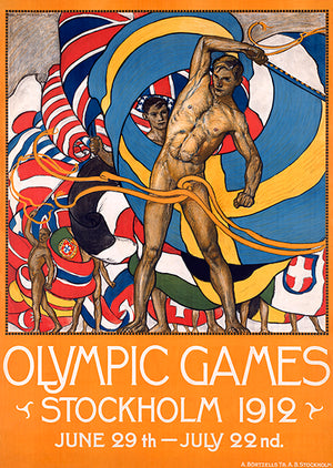 Olympic Games - Stockholm, Sweden - 1912 - Travel Poster Mug