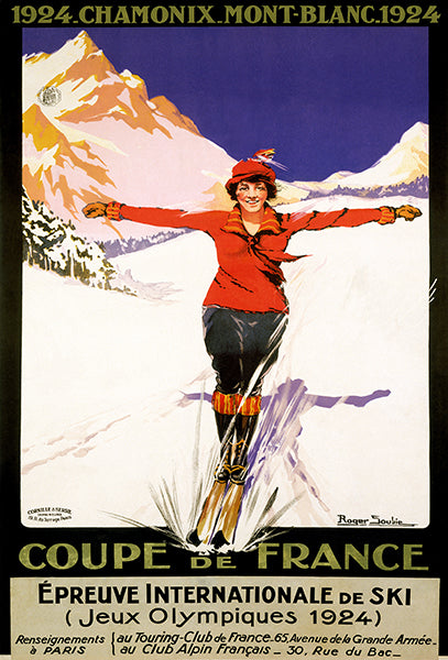 Olympic Games Ski - Coupe De France - 1924 - Advertising Poster