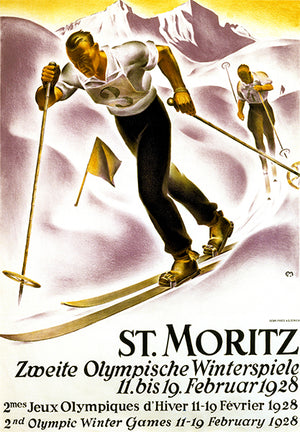 Olympic Winter Games - St Moritz - 1928 - Advertising Poster