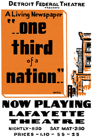 One Third Of A Nation - 1938 - Federal Theatre WPA Magnet