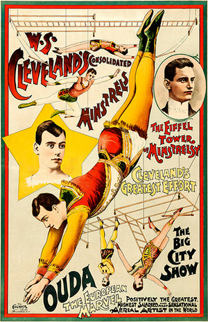 Ouda The European Marvel - Acrobat - 1890 - Show Magnet