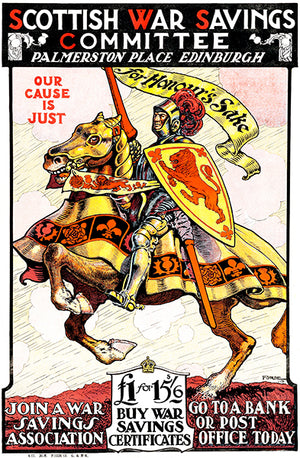 Our Cause Is Just - Scottish Savings - 1917 - World War I - Propaganda Magnet