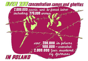 Over 200 Concentration Camps And Ghettos - 1940's - World War II - Propaganda Poster