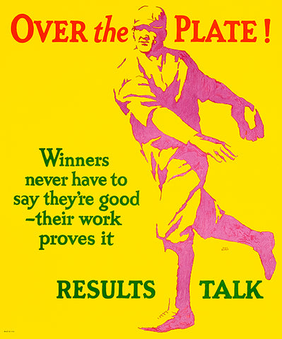 Over The Plate - Results Talk - 1920's - Work Motivation Poster