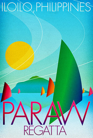 Paraw Regatta - Iloilo Philippines - Travel Advertising Poster