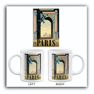 Paris - France - 1940's - Travel Poster Mug