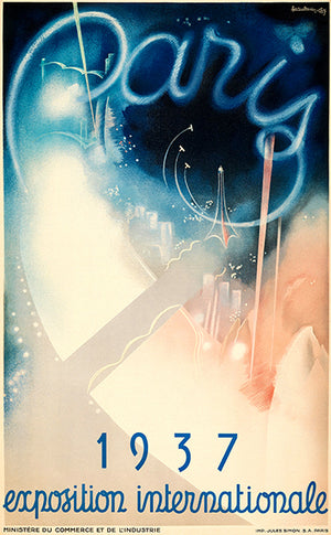 Paris International Exposition - 1937 - Promotional Advertising Poster