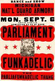 Parliament Funkadelic - 1971 - Concert Poster