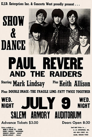 Paul Revere And The Raiders - 1969 - Salem OR - Concert Magnet