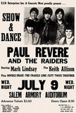 Paul Revere And The Raiders - 1969 - Salem OR - Concert Poster