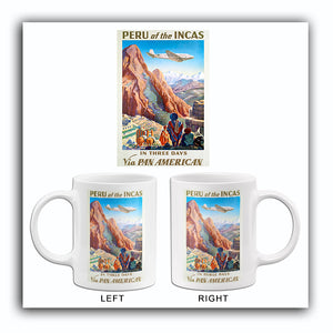 Peru of the Incas - Via Pan American - 1938 - Travel Poster Mug
