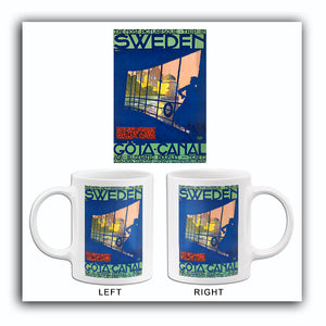 Picturesque Trip In Sweden - Gota Canal - 1920's - Travel Poster Mug