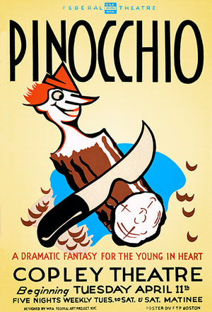 Pinocchio - 1939 - WPA Federal Theatre Magnet