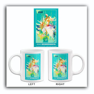 Pleasant Scandinavia - Scandinavian Airlines System - 1964 - Travel Poster Mug