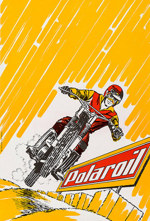 Polaroil - 1961 - Motorcycle Oil - Promotional Advertising Magnet