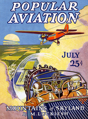 Popular Aviation Magazine - July 1928 - Cover Poster
