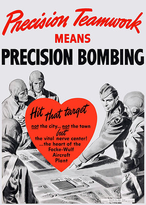 Precision Teamwork - 1940's - World War II - Propaganda Magnet